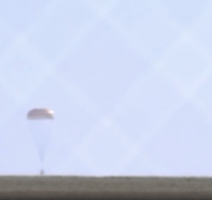 Capsule lands safely