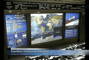NASA monitor De-Orbit Burn
