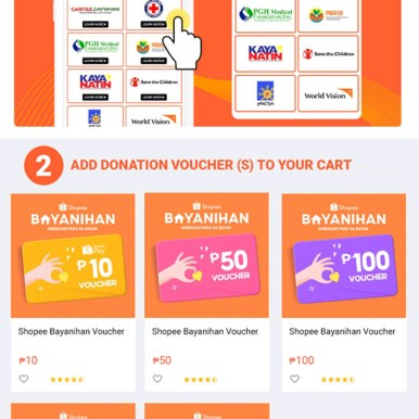 Shopee has recently established its own donation portal, with links to partners.