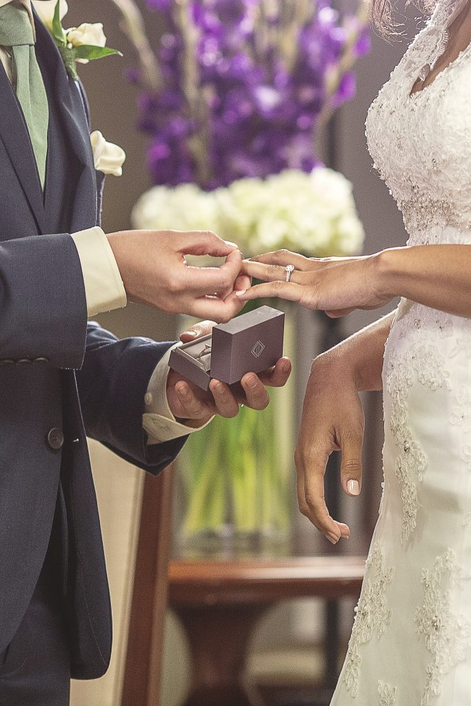 The Rings during the wedding ceremony in Dallas