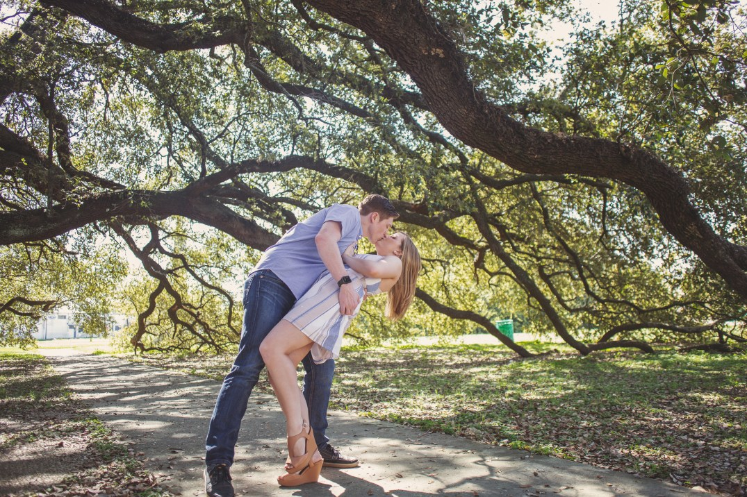 Engagement session in Wiess Park in Beaumont, Texas