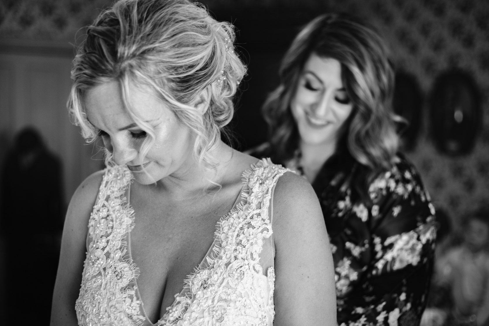 Bride and Maid of Honor | Chapel at Chestnut Square in Mckinney, TX | Skys the Limit Production