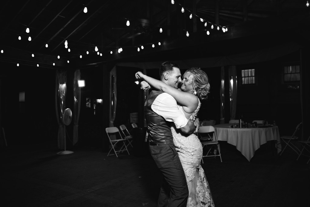 Bride and Groom's last dance at their wedding reception
