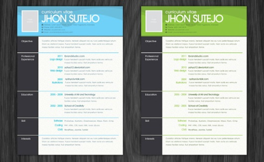 create resume photoshop free one page pattern resume template psd