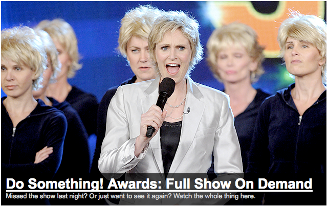 Congrats on a great Do Something Awards show!