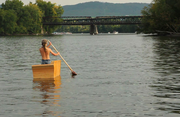 Local Artist Navigates the Connecticut River on a Couch!