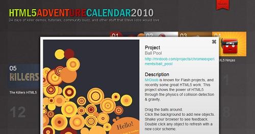 HTML5 Adventure Calendar