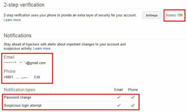 What is 2 Step verification Code of Google?