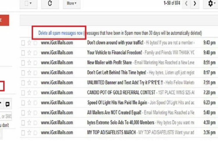 How to delete spam mail only single click?