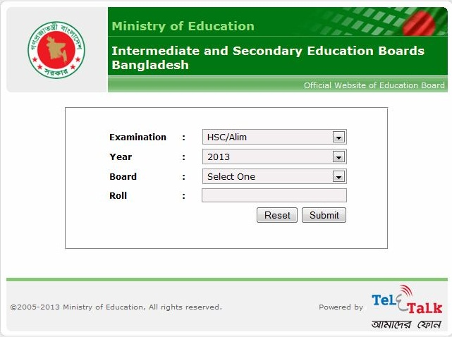 hsc results 2013