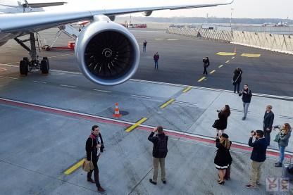 Auch in Hamburg wurde die A350 ausgiebig bestaunt...