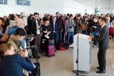 Die A350 wird in München willkommen geheißen