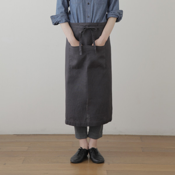 blue grey garcon apron