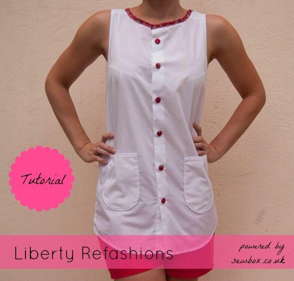 white shirt refashion