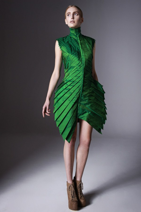 tropical leaf like dress