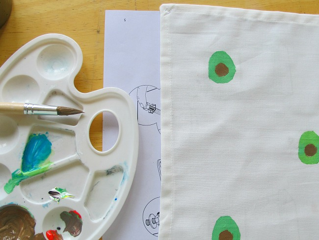 how to paint your own textile napkins part 2