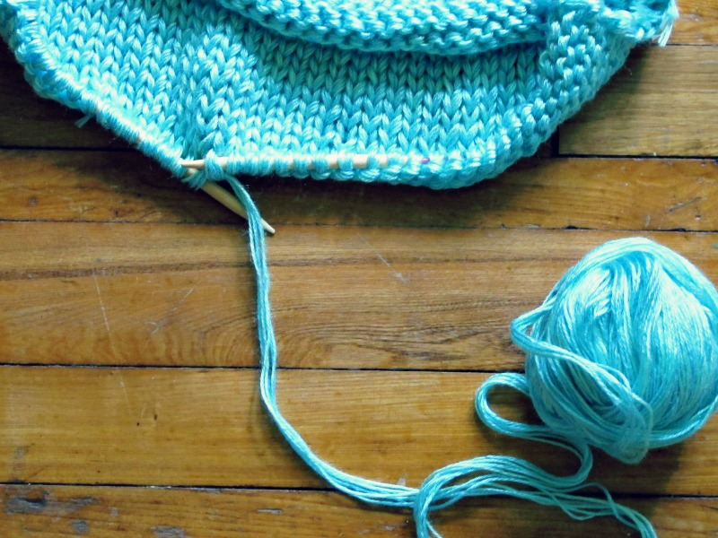 knitting pillow cases out of super chunky yarn