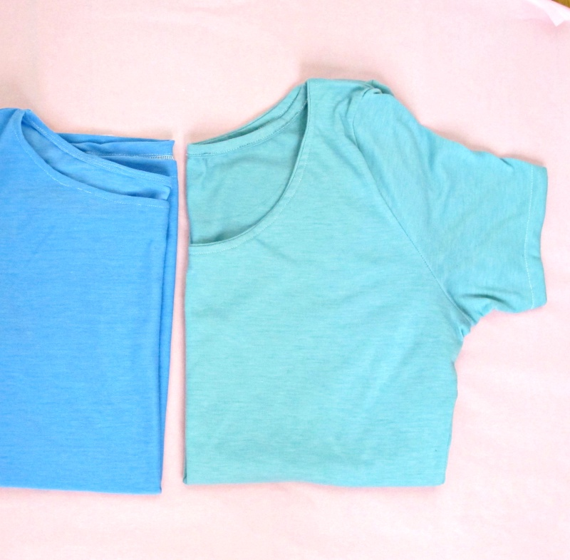 two handmade t-shirts detail