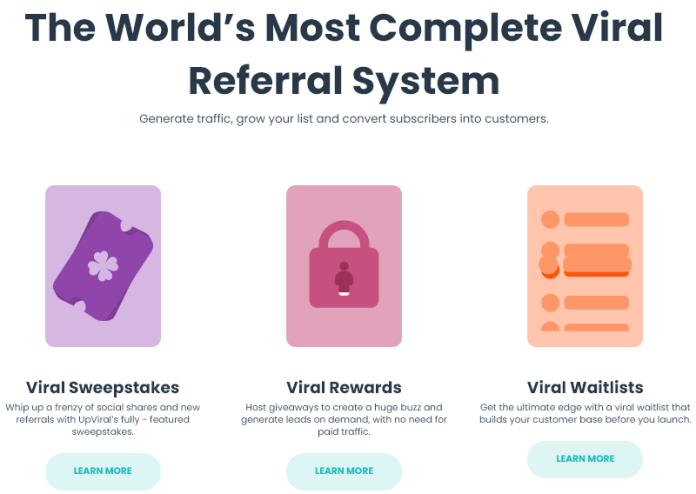 Upviral's Features