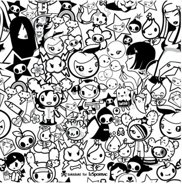 tokidoki sanrio anime colouring pages