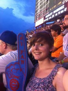 Ruth enjoying the baseball