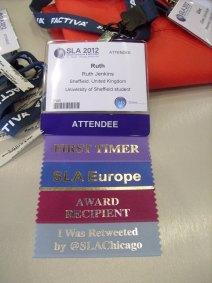 Ruth's badge ribbons