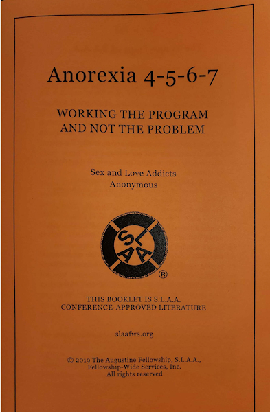 Anorexia 4-5-6-7 Booklet