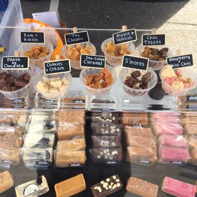 Slab Artisan Fudge Stall @ I Love Wight Market April 2