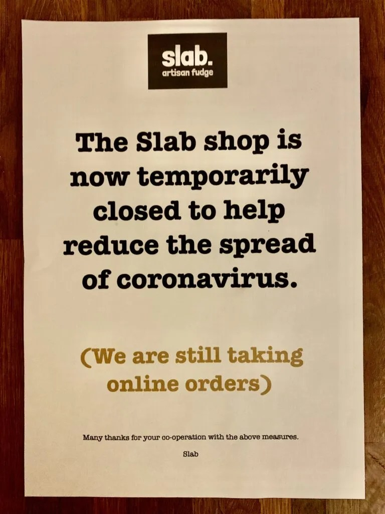 Coronavirus Closure notice - Slab Shop