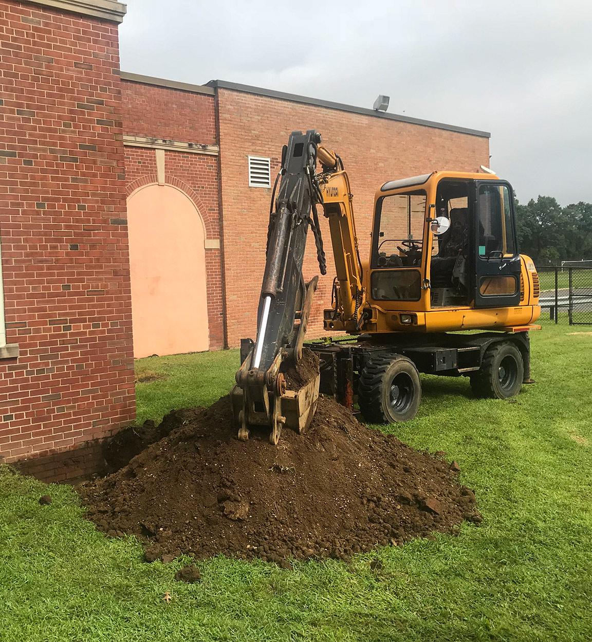 backhoe excavation