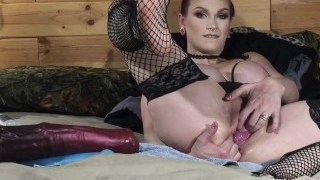 Lily Skye loves Hitachi insertion as a foreplay for Bad Dragon play and   extreme double fisting.