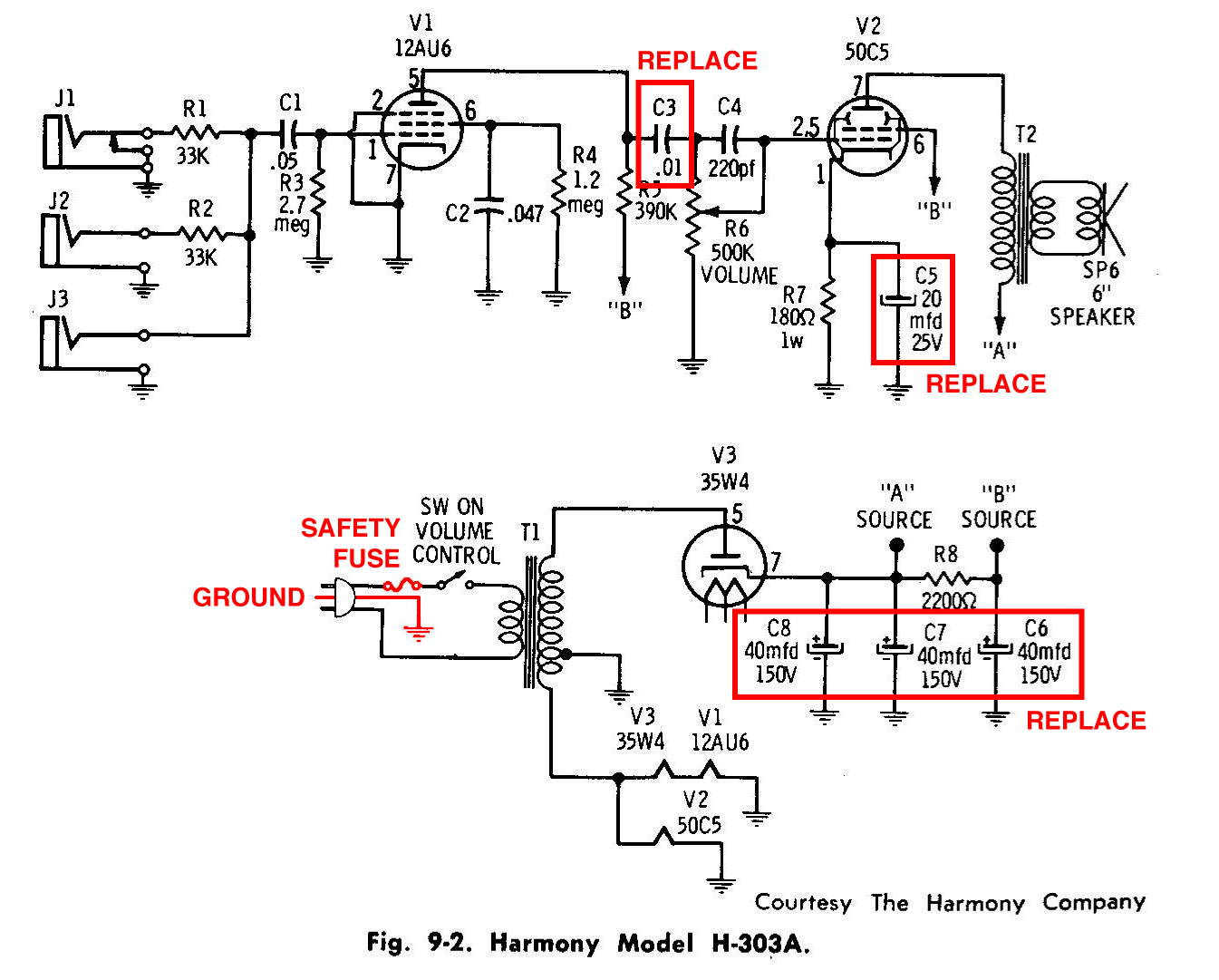 Teisco Guitar Amplifier Schematics