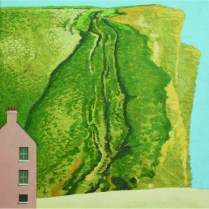 David Inshaw East Cliff with Pink House