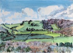 From the Cerne Abbas Giant Tim Cumming 16.5 x 23 inches gouache on paper £400