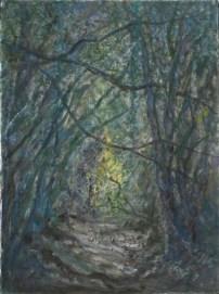 John Hubbard Sunken Lane I oil on paper