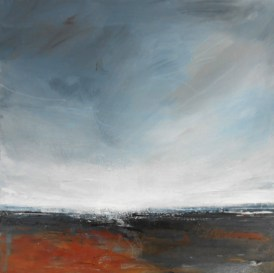 Boo Mallinson Winter Walk I, 35cm x 35cm, mixed media on canvas £600