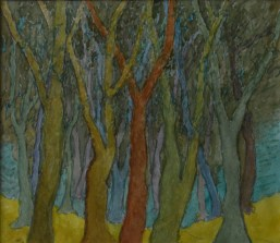 John Hubbard Group of Trees watercolour on paper 2004