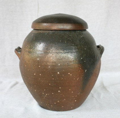 Svend Bayer 5. Lidded Jar other side 34 x 27cm SOLD