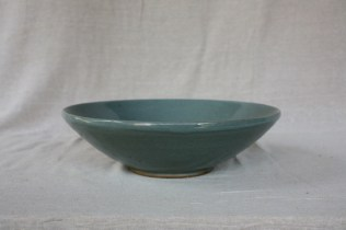 Svend Bayer 7. Large Bowl, celadon glaze, 12.5 x 42 cm SOLD