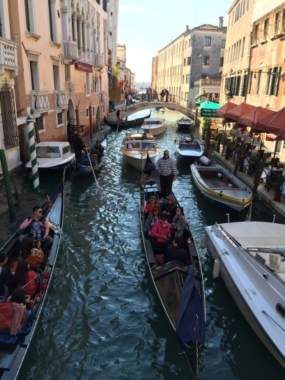 Getting lost and finding rich tourists filming themselves on gondolas