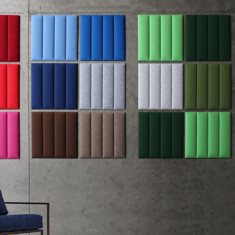 ecowall bevestigd aan de muur in verschillende kleuren