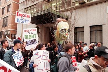 SLAM protest 1998