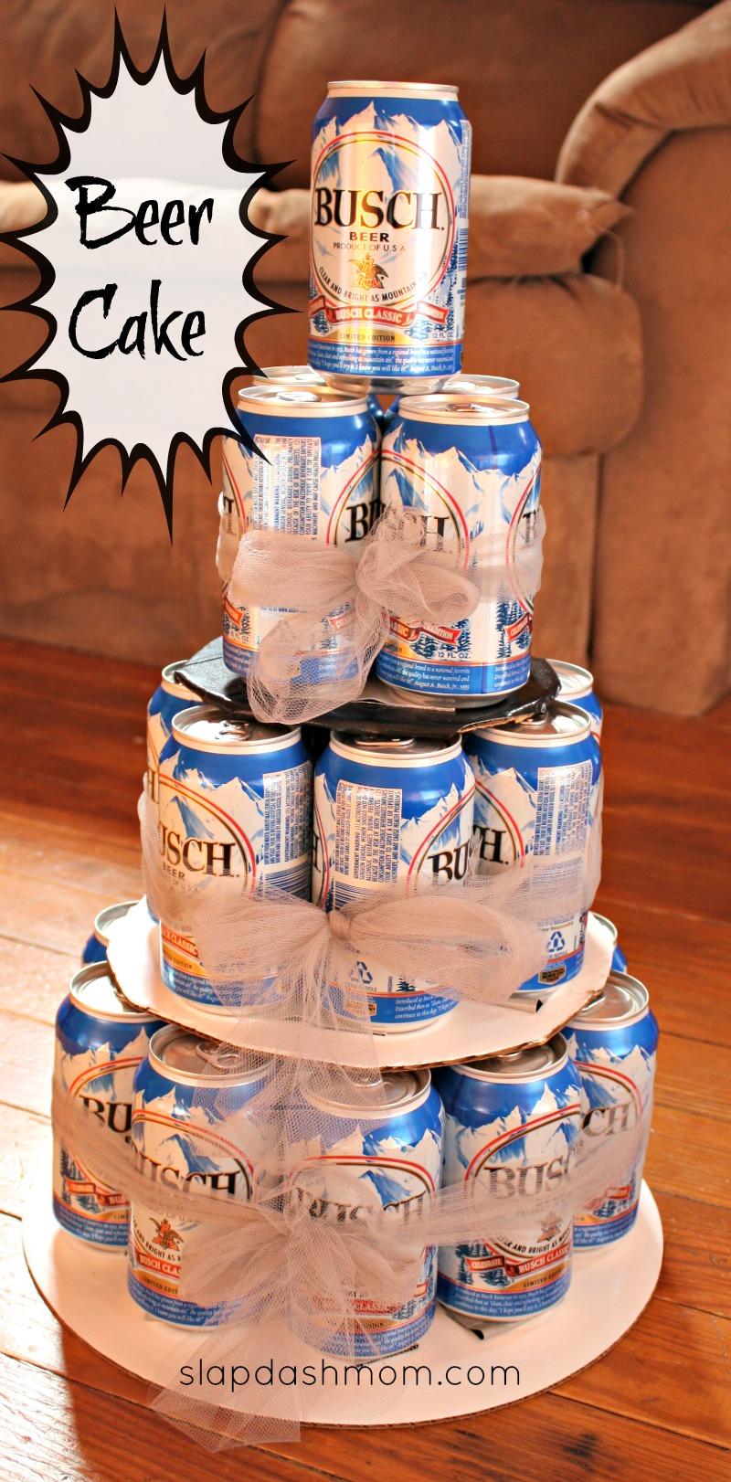 DIY Beer Tower Cake Hoosier Slap Dash Mom
