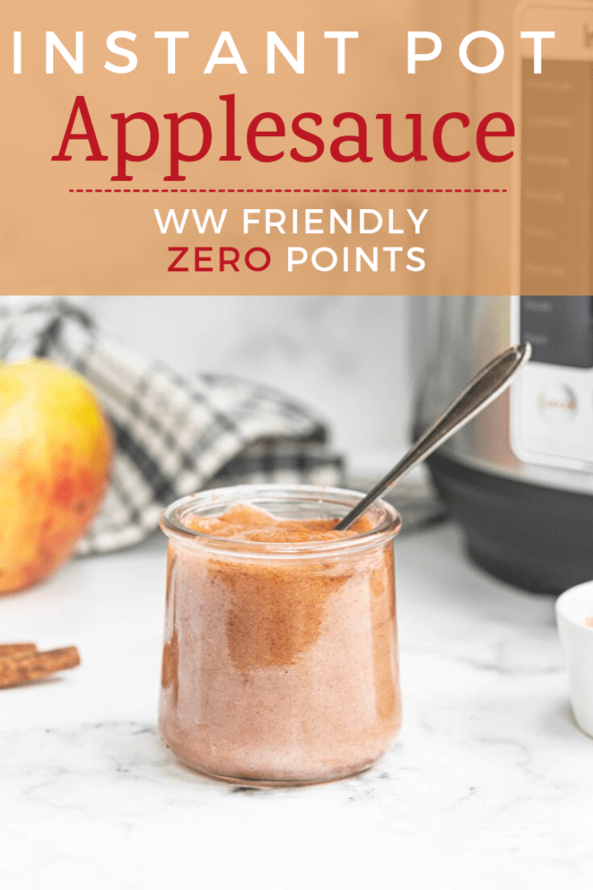 Instant Pot applesauce is a great snack and kid-friendly food! Using the Instant Pot makes applesauce a perfect option for meal prep! Weight Watcher friendly, ZERO points! #applesauce #homemadeapplesauce #instantpot #instantpotrecipes #ww #wwrecipes #fall