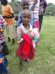 A little girl we handed donations out to.