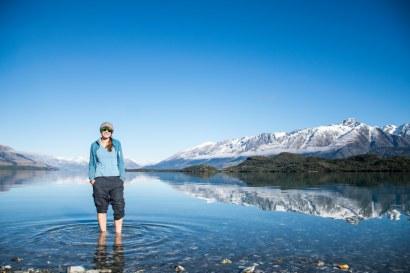 Dee paddling in beautiful Lake Wakitupu