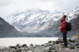 Dad standing beneath Mount Cook