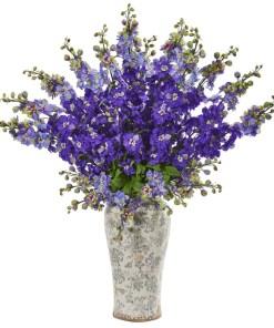 "Nearly Natural 1880-PP 38"" Delphinium Artificial Arrangement in Decorative Vase"