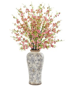 """Nearly Natural 1888-PK 37"""" Cherry Blossom Artificial Arrangement in Decorative Vase"""