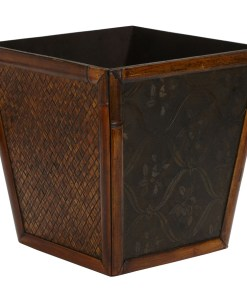 Nearly Natural 0514 Bamboo Square Decorative Planters
